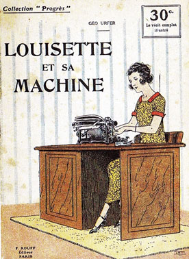Louisette et sa machine, roman, 1920.