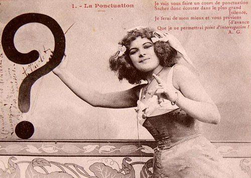 Point d'interrogation, carte postale ancienne
