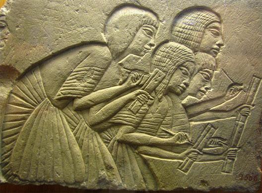 Scribes égyptiens, musée archéologique, Florence