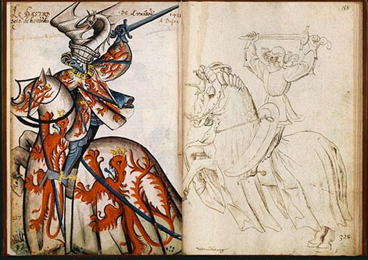 Petit armorial équestre de la Toison d'or, XVe s., BNF, Paris