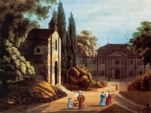 Le château de Voltaire à Ferney (gravure)