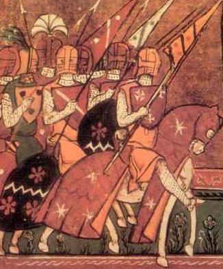 Godefroi de Bouillon à la tête de la première croisade