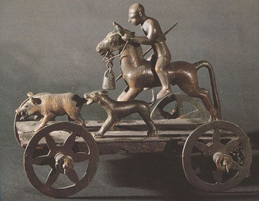 Char cultuel celte de l'époque de Hallstatt (début du 1er millénaire av. J.-C.), Mérida (Espagne) (DR)
