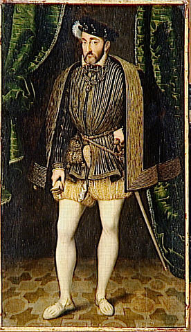Le roi de France Henri II (31 mars 1519 à Saint-Germain-en-Laye - 10 juillet 1559 à Paris  )