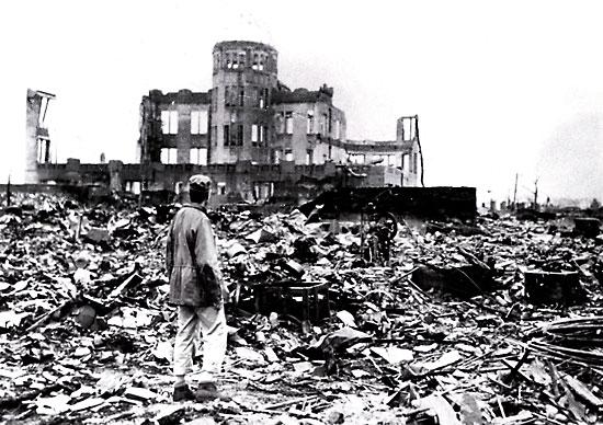 Hiroshima après la bombe atomique du 6 août 1945