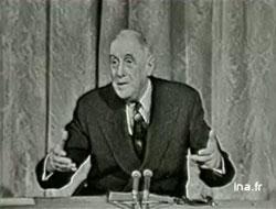 Conférence de presse de Charles de Gaulle, 15 mai 1962, INA (Institut National de l'Audiovisuel)