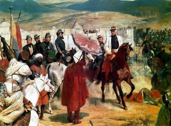 Bugeaud reçoit la reddition des Marocains à l'Isly, par Horace Vernet (musée de Versailles)