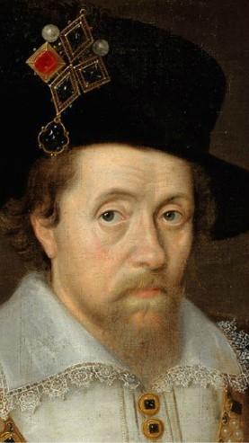 Jacques VI d'Ecosse, Jacques 1er Stuart (19 juin 1566 – 27 mars 1625), par Daniel Mytens, 1621