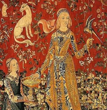 Le Goût, tapisserie de La Dame à la licorne, XVe s., Paris, musée de Cluny