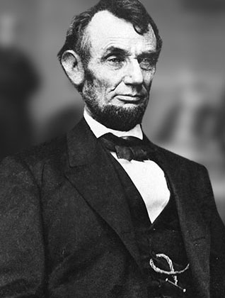 Abraham Lincoln, d'après une photographie d'Anthony Berger du 9 février 1864, Library of Congress