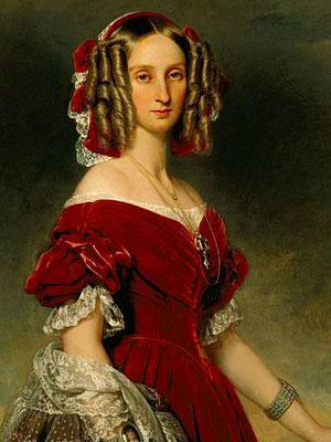 Louise-Marie d'Orléans, reine des Belges (3 avril 1812 - 11 octobre 1850) (Franz Xavier Winterhalter, 1841)