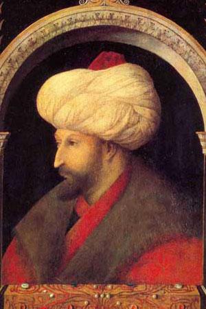 Gentile Bellini, Le Sultan Mehmet II, 1480, Londres, The National Gallery