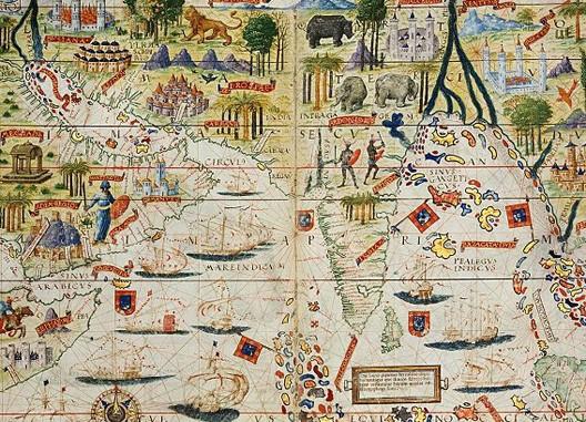 Lopo Homem, Atlas Miller, océan Indien, Arabie et Inde, Portugal, 1519, Paris, BnF