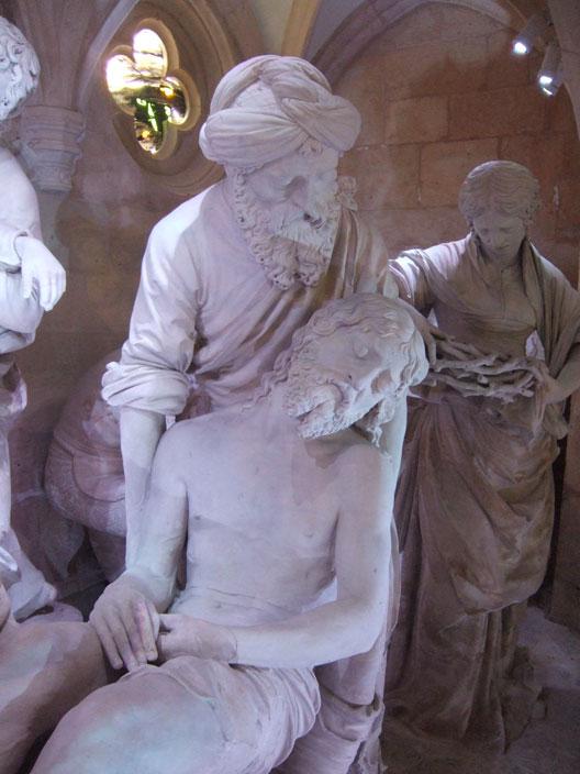 Mise au tombeau (Ligier Richier, vers 1563, église Saint-Étienne, Saint-Mihiel) photo : André Larané
