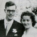 Guy Monnerot, victime de la Toussaint rouge (1er novembre 1954) au bras de son épouse