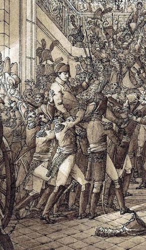 Le retour de l'Empereur, 20 mars 1815 (lithographie de François-Joseph Heim)