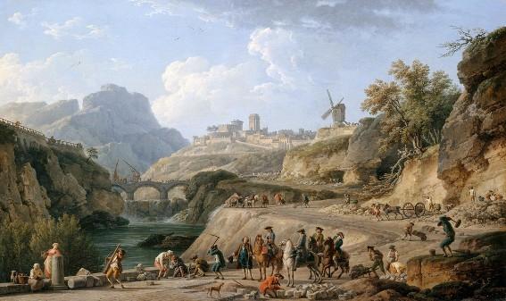 Joseph Vernet, La Construction d'un grand chemin, 1774, Paris, musée du Louvre