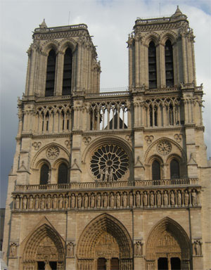 La façade de Notre-Dame de Paris (photo : Florian Cessac)