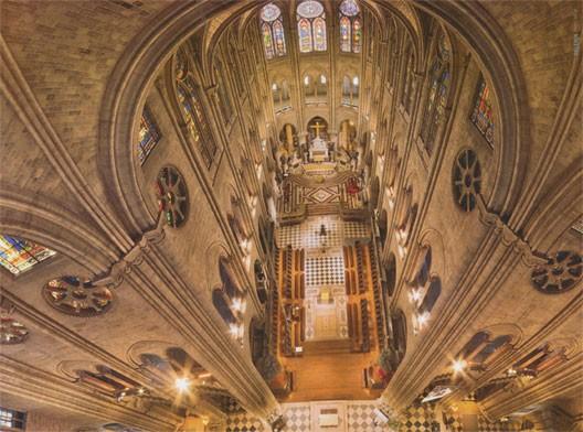 Le transept de Notre-Dame de Paris (photo : Stéphane Compoint, pour le hors-série Pèlerin, décembre 2012)