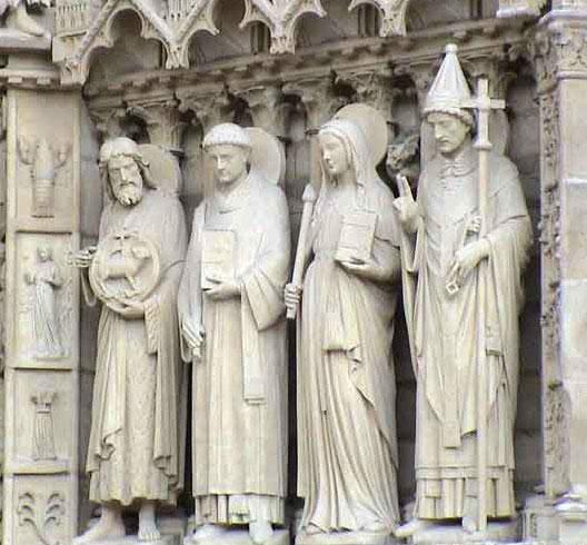 Le portail central de Notre-Dame de Paris, DR