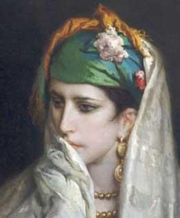 Jean-François Portaels, Portrait de jeune Nord-Africaine, Tanger, 1874, Charleroi, musée des Beaux-Arts