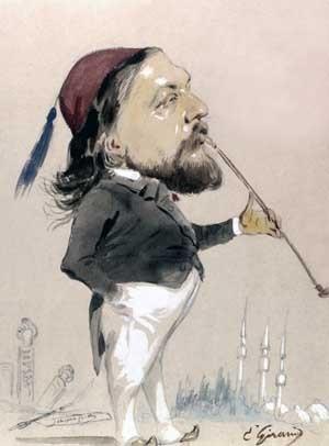 Eugène Giraud, Théophile Gautier fumant son chibouk, 1862, Paris, BnF