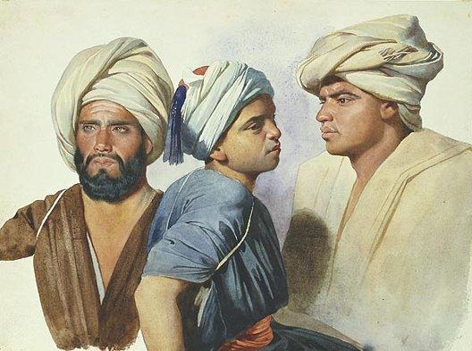 Charles Gleyre, Trois fellahs, 1835, Lausanne, musée cantonal des Beaux-Arts