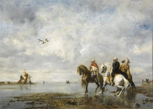 Eugène Fromentin, La Chasse au héron, 1865, Chantilly, musée Condé