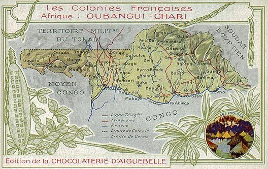 La République centrafricaine, de l'indépendance au chaos par Alban Dignat Oubangui-chari_carte