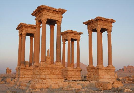 Le tétrapyle (Palmyre, Syrie), photo : Gérard Grégor, 2009
