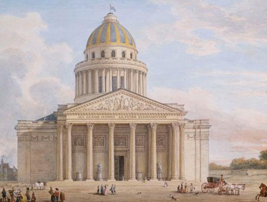 Le Panthéon (gravure du milieu du XIXe siècle)