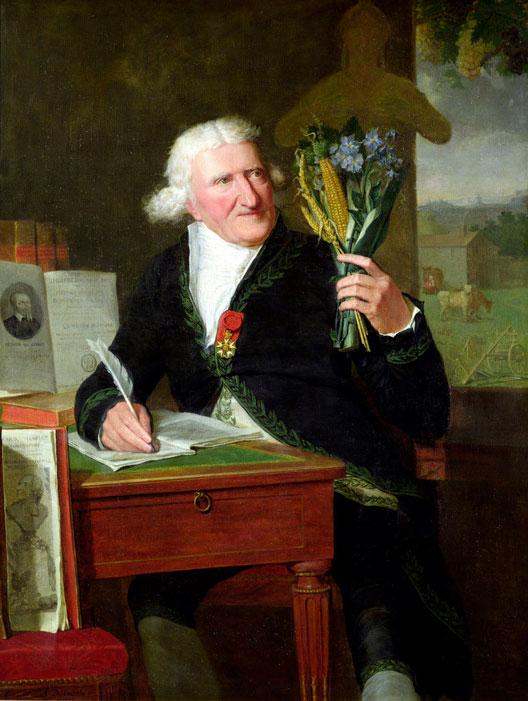 Antoine Parmentier en habit d'académicien présente les plantes qu'il a étudiées (François Dumont, 1812, musée de Versailles)