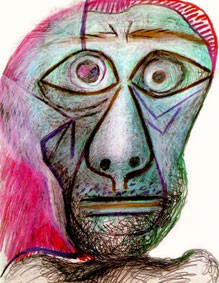 Pablo Picasso, Autoportrait face à la mort, 1972, collection privée (DR)