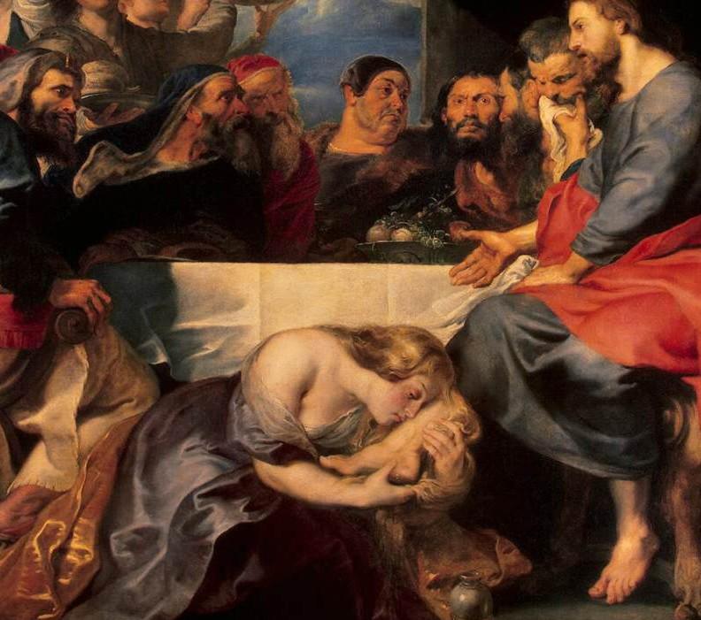 Fête dans la maison de Simon le Pharisien (Pierre Paul Rubens, 1618, Musée de l'Ermitage, Saint Petersbourg)