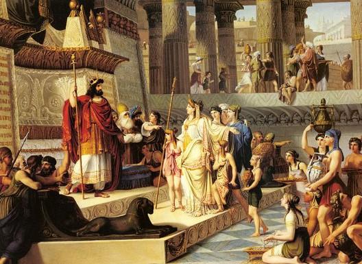 Giovanni Demin, Salomon et la reine de Saba, XIXe s., collection privée