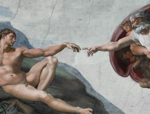 La Création de l'Homme, détail de la Sixtine