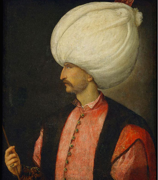 Soliman ii le magnifique sultan de 1520 1566 1530 portrait attribu au titien national - Les sultans de l empire ottoman ...