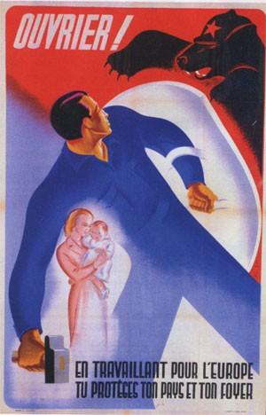 affiche de propagande sur le Service de Travail Obligatoire, STO
