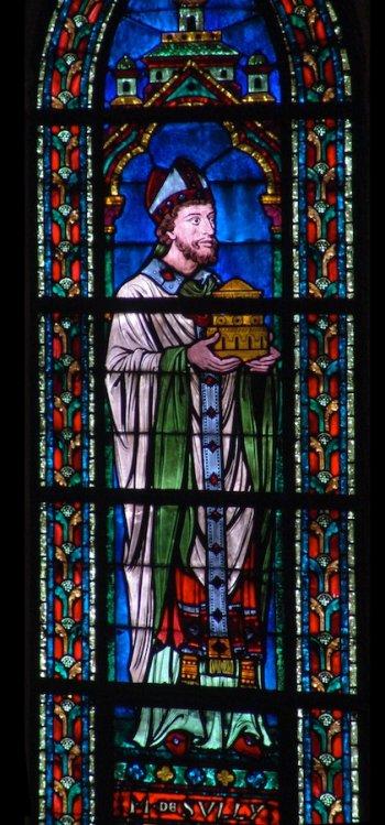 Vitrail de Maurice de Sully à Notre-Dame de Paris