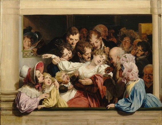 Louis Léopold Boilly, L'Effet du mélodrame, 1830, Versailles, musée Lambinet