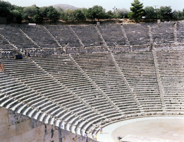 théâtre d'Épidaure (IIIe s. av. J.-C. - Grèce), photo : Isabelle Grégor
