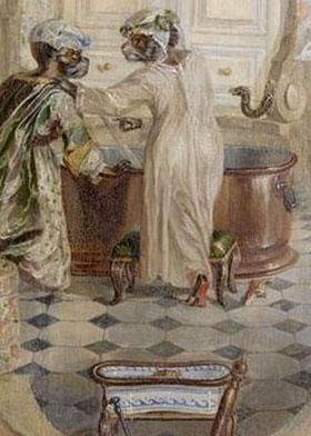 Christophe Huet, Décor de la Petite Singerie: La baignoire, 1735, Chantilly, musée Condé.