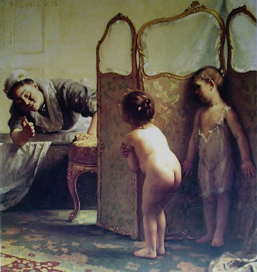 Paul Peel, Avant le bain, 1890, coll. part.