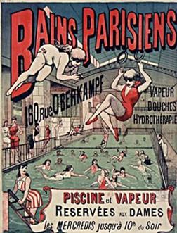 Affiche pour les Bains parisiens, début XXe s., Paris, Bnf.