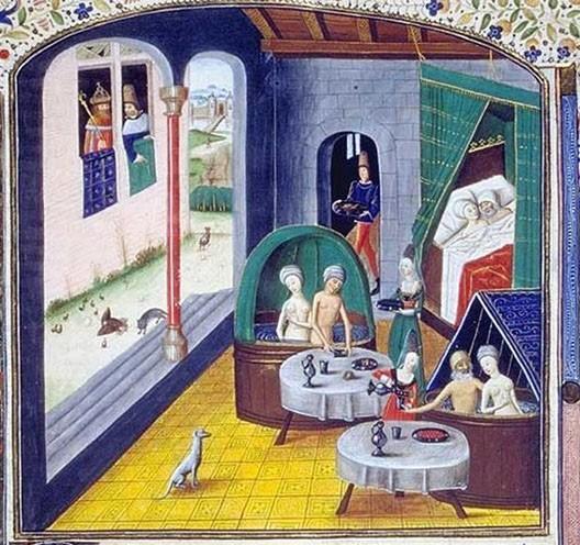Les étuves, Valère Maxime, Faits et dits mémorables, vers 1455, Paris, Bnf