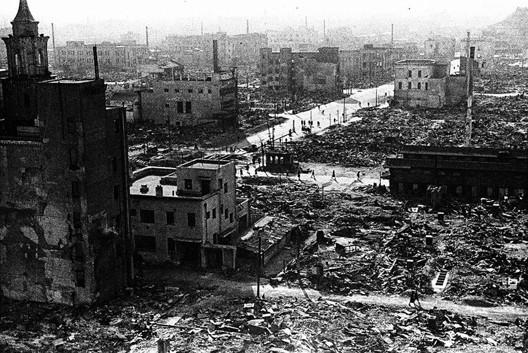 Tokyo après le bombardement américain du 10 mars 1945