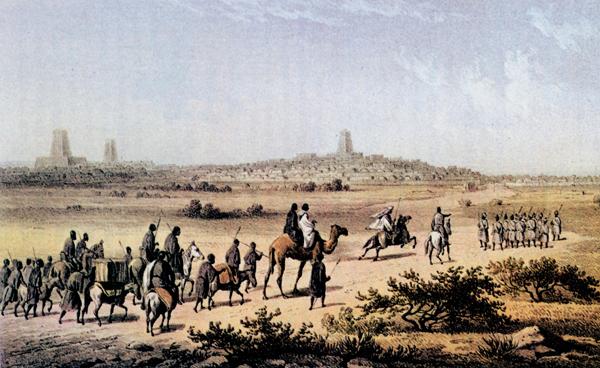 Carte postale ancienne : vue de Tombouctou