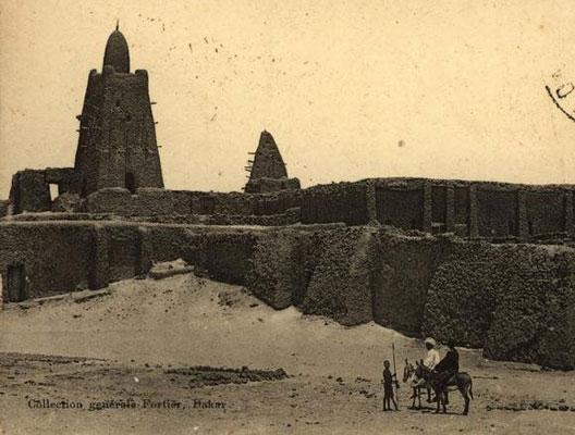 Carte postale ancienne : la grande mosquée de Tombouctou