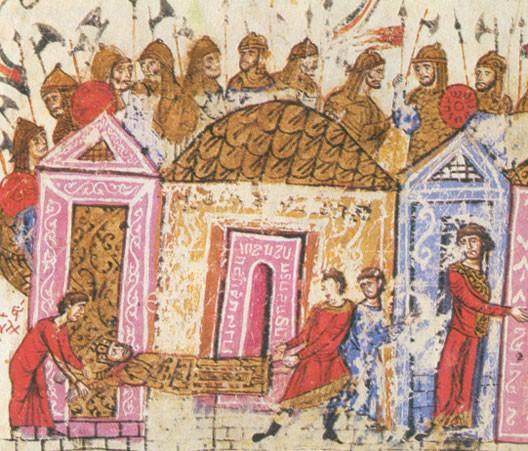 Varègues en armes (manuscrit ancien)