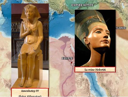 Égypte : la naissance du monothéisme, une carte animée de Vincent Boqueho pour Herodote.net, 2014